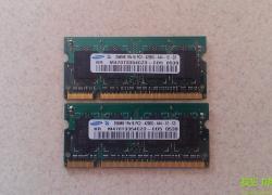 Оперативна пам'ять для ноутбука DDR2 512 мб (256+256)