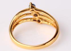 Кольцо  позолоченное  -  Новое