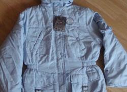 Куртка Детская. US POLO. США. Голубая с капюшоном. 10-12 лет.